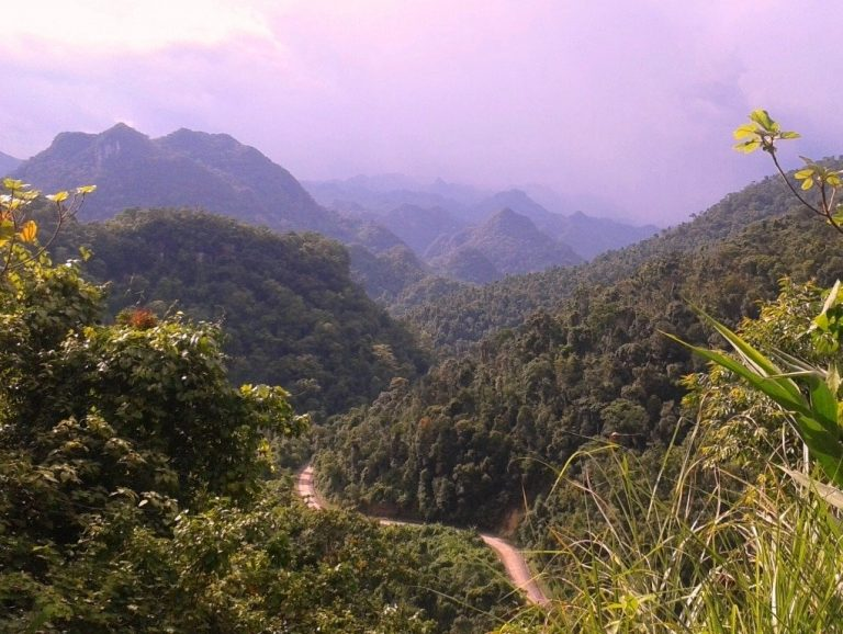 hidden beneath these mountains is the recently discovered Son Doong Cave, the largest in the world