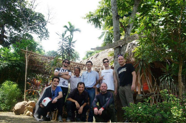 a group photo at Uncle Ty's Homestay