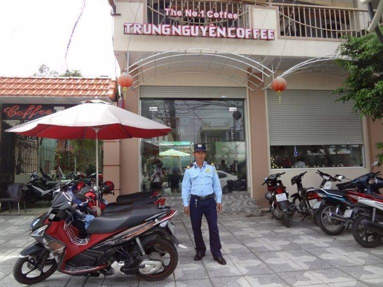 a parking security guard