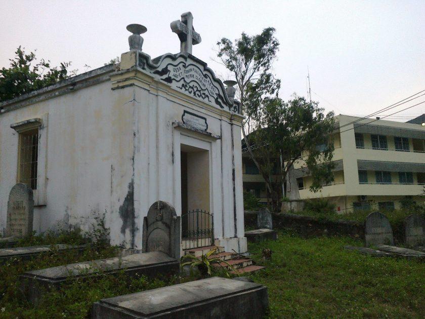 the small chapel in Y Pha Nho Cemetry, Danang