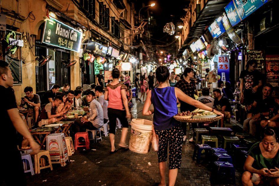 Ta Hien (Beer Street), in Hanoi's Old Quarter