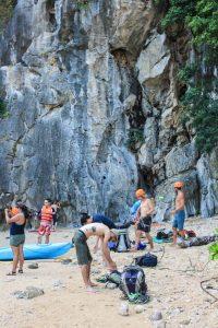 Moody Beach Rock Climbing
