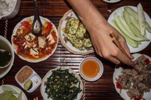 Traditional Vietnamese Dinner, Ky Tam Homestay, Xuân Sơn National Park