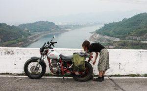 Honda FTR at Hoa Binh Dam