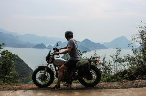 on the way to Mai Chau by motorbike