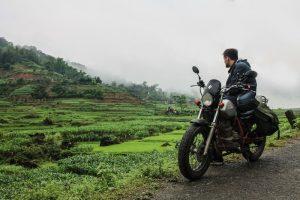 Motorbike in Pu Luong