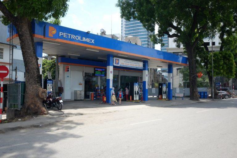 a Petrolimex petrol station in Hanoi
