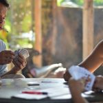 Vietnamese men playing cards