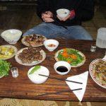dinner in a homestay in Pu Luong national park