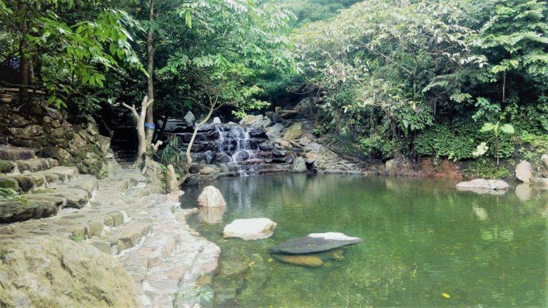 the swimming area in Ba Vi