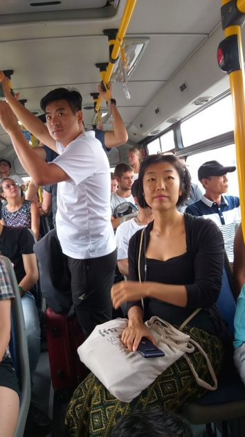 Hanoi buses can get pretty crowded