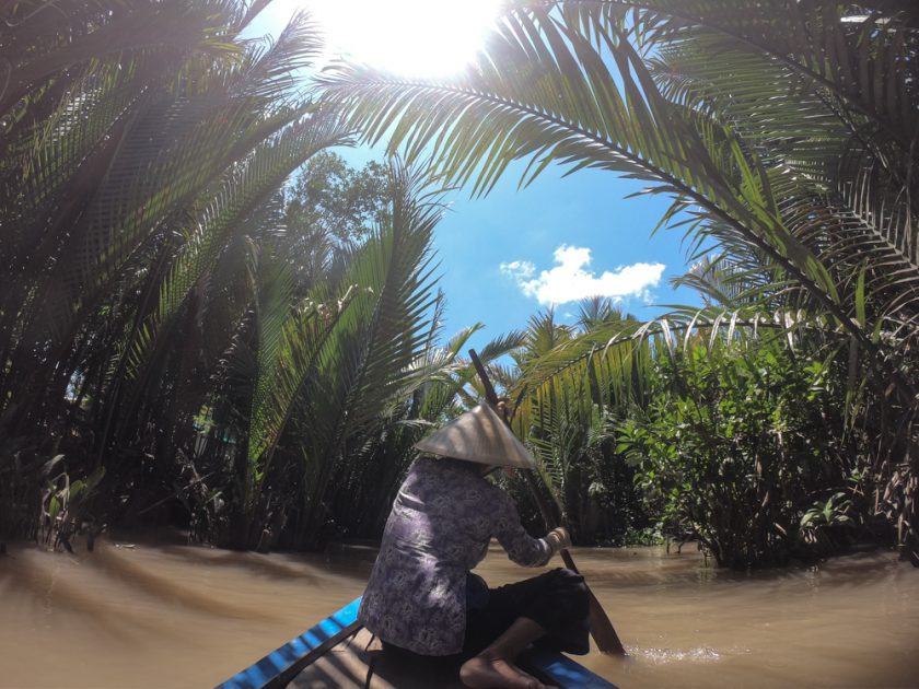 taking a boat trip in the Mekong Delta