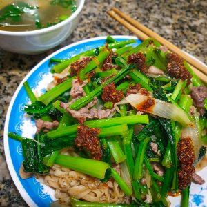 a plate of pho xao in Gia Lam, Hanoi