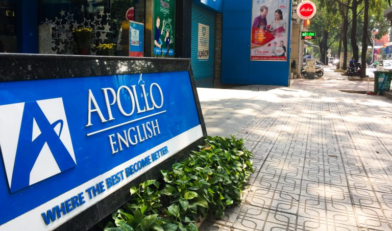 Apollo English centre in HCMC