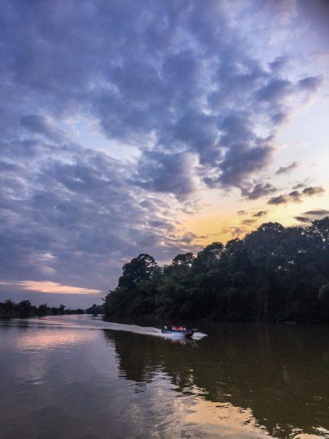 sunset boat tour in Cat Tien National Park