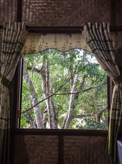 Bedroom views at Green Bamboo Lodge