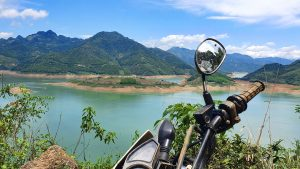 XR parked up near the Da River in North Vietnam