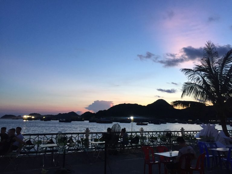sunset on Cat Ba Island