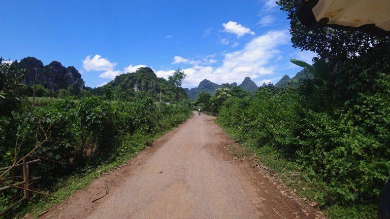 a fast dirt road in Mai Chau