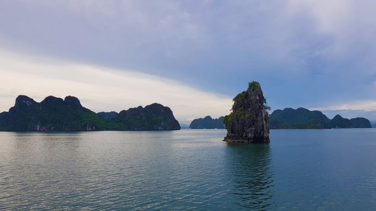 Ha Long Bay in the early evening