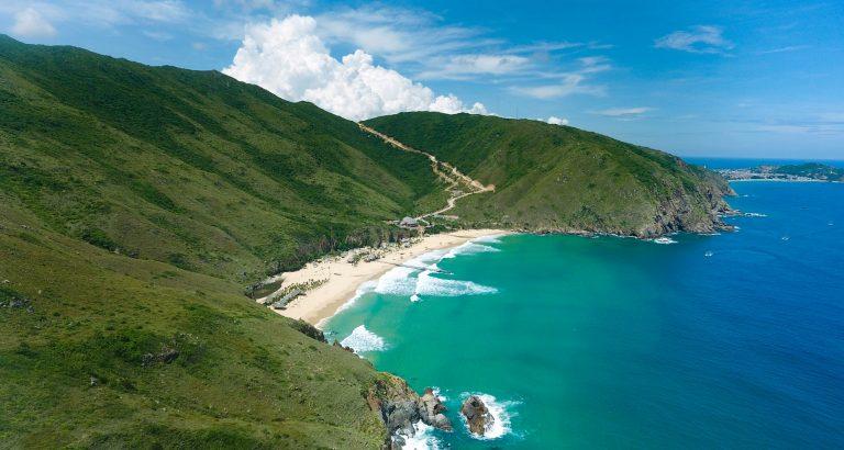 the beautiful Ky Co Beach