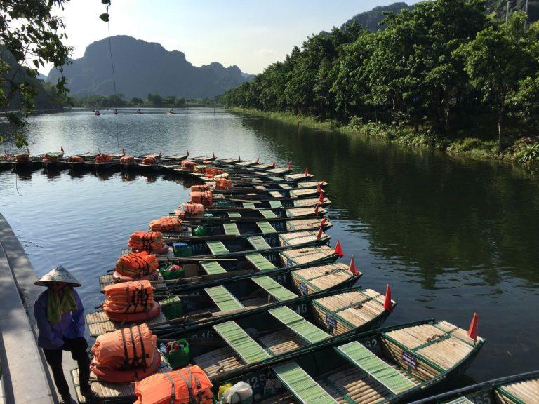 the boat dock by Trang An Grottoes, Ninh Binh