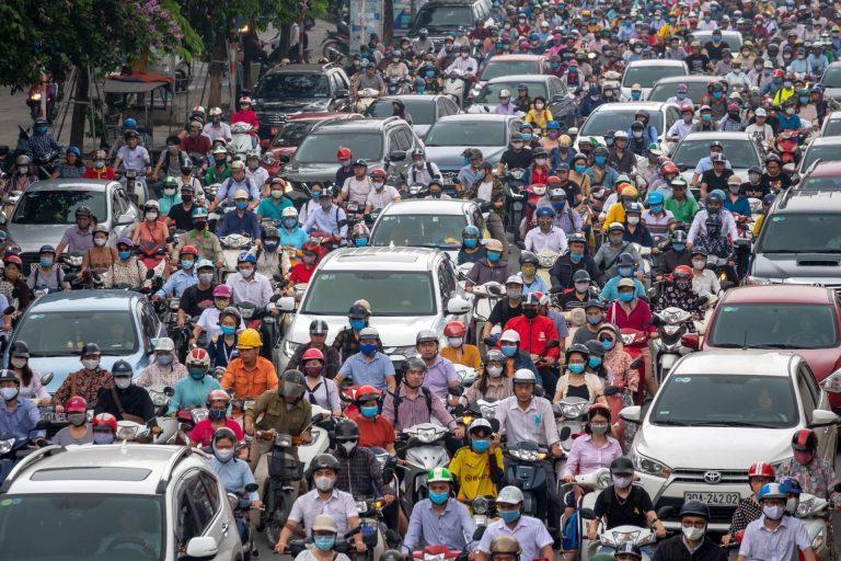 rush hour traffic in Vietnam