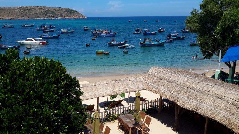 the wonderful ocean view at the Nhon Hai Beach Resort