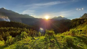 sunset in Sapa, North Vietnam