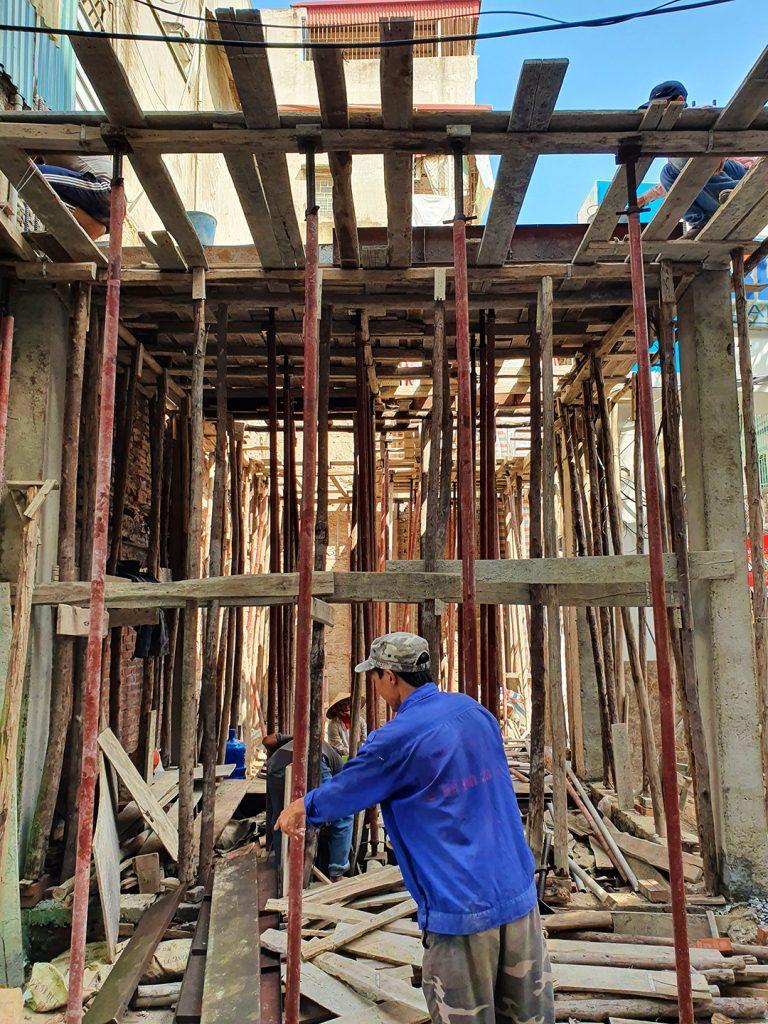 some basic construction happening in Hanoi