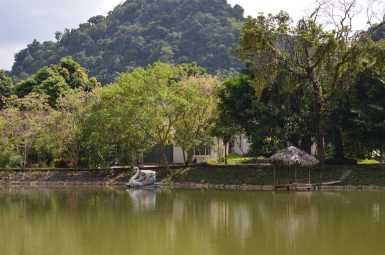 the tranquil Mac Lake just 1km inside cuc phuong national park